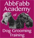 Abbfabb Dog Grooming Training Logo
